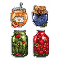 Cross Stitch Kit Gifts of Autumn. Magnets SR-454