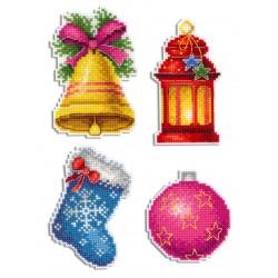 Christmas Magnets SR-461 - Siuvinėjimo rinkinys