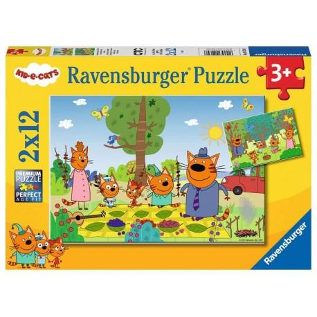 Puzzle 2x12 Kid-e-cats