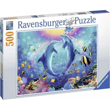 Puzzle 500 - Dance With The Dolphins Puzzle