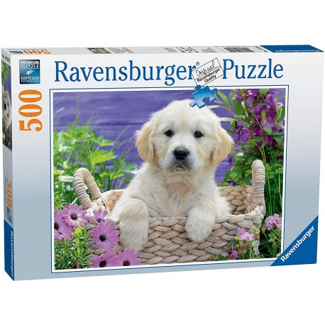 Puzzle 500 Sweet Golden Retriever