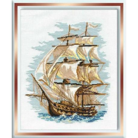 """RIOLIS - Create It Yourself - Siuvinėjimo rinkinys """"Laivas"""" 479 (30x40 cm)"""