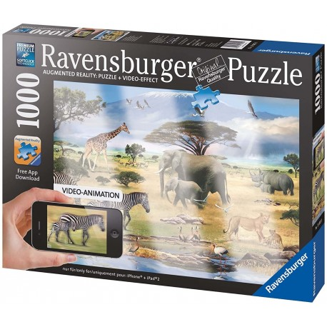 Augmented Reality Animals Of Africa Puzzle - 1000 Piece