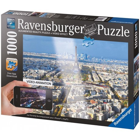 Augmented Reality Above The Roofs Of Paris Puzzle - 1000 Piece
