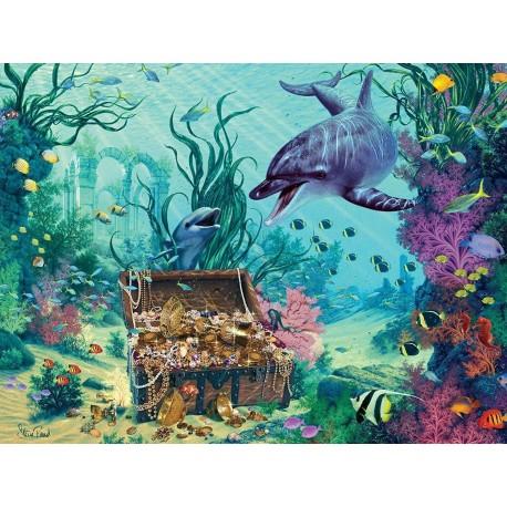 Puzzle 1500 Puzzle Dolphin Treasure