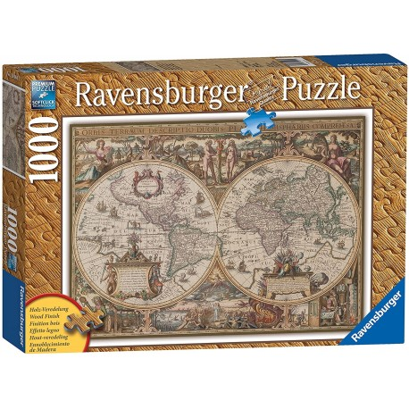 Puzzle1000 Wooden Structure Antique Map of the World