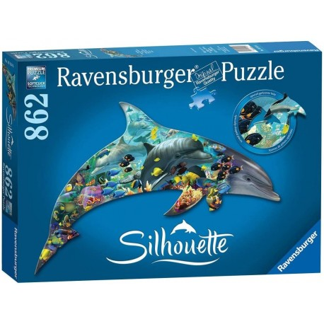 Puzzle 862 Silhouette Dolphin