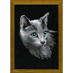 Russian Blue - Cross Stitch Kit from RIOLIS Ref. no.:764