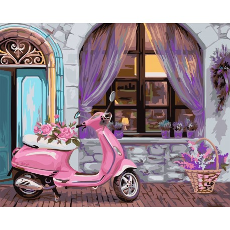Wizardi Painting by Numbers Kit French Boutique 40x50 cm A088