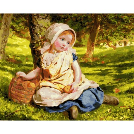 Wizardi Painting by Numbers Kit Sweet Child 40x50 cm G010