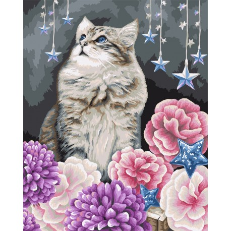 Wizardi Painting by Numbers Kit Dreamer 40x50 cm H108