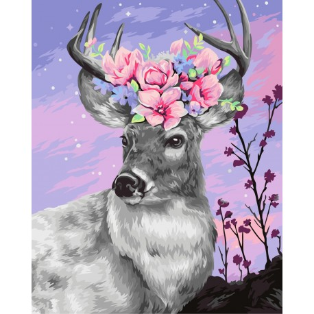 Wizardi Painting by Numbers Kit Flower Crown 40x50 cm H111