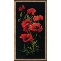 Poppies - Cross Stitch Kit from RIOLIS Ref. no.:1057