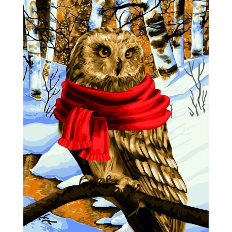 Wizardi Painting by Numbers Kit Warm Scarf 40x50 cm L022