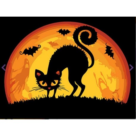 Painting by Numbers Halloween Cat 16.5x13cm T16130050