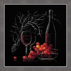 Still Life with Red Wine - Cross Stitch Kit from RIOLIS Ref. no.:1239
