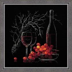 """RIOLIS - Create It Yourself - Siuvinėjimo rinkinys """"Natiurmortas su raudonu vynu"""" 1239 (30x30 cm)"""