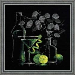 """RIOLIS - Create It Yourself - Siuvinėjimo rinkinys """"Natiurmortas su martiniu"""" 1240 (30x30 cm)"""
