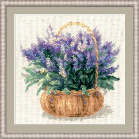 French Levander - Cross Stitch Kit from RIOLIS Ref. no.:1404