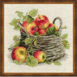 """RIOLIS - Create It Yourself - Siuvinėjimo rinkinys """"Prinokę obuoliai"""" 1450 (30x30 cm)"""
