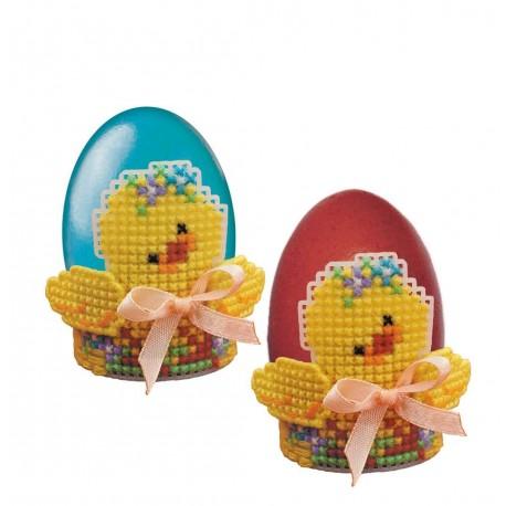 """RIOLIS - Create It Yourself - Siuvinėjimo rinkinys """"Viščiukas kiaušinio laikiklis"""" 1532AC (6,5x6 cm)"""