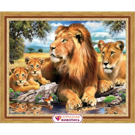 Diamond painting Lions AZ-1399 Size: 50х40