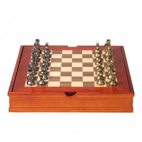 Beautiful Classic Chess Set with Wooden Storage Box N°221