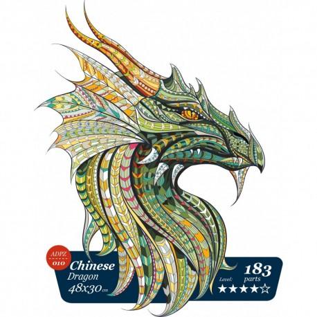 Chinese dragon - unique WOODEN puzzle 183 pcs