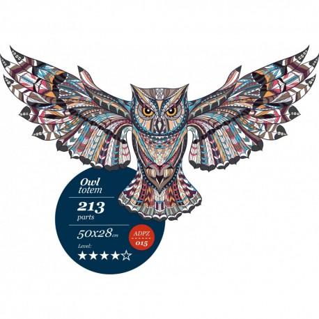 Owl totem - unique WOODEN puzzle 213 pcs