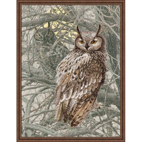 Eagle Owl - Cross Stitch Kit from RIOLIS Ref. no.:0038 PT