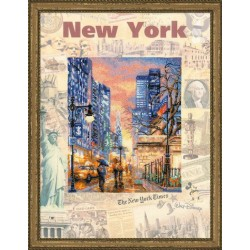 Cities of the World. New York - Cross Stitch Kit from RIOLIS Ref. no.:0025 PT