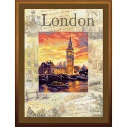 """RIOLIS: Siuvinėjimo rinkinys su ant medžiagos atspaustu piešiniu """"Londonas"""" 0019 PT (30x40 cm)"""