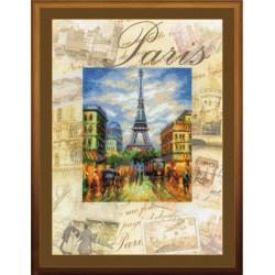 """RIOLIS: Siuvinėjimo rinkinys su ant medžiagos atspaustu piešiniu """"Paryžius"""" 0018 PT (30x40 cm)"""