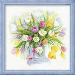"""RIOLIS - Premium - Siuvinėjimo rinkinys """"Tulpės"""" 100/008 (30x30 cm)"""