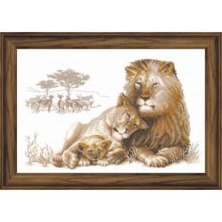 """RIOLIS - Premium - Siuvinėjimo rinkinys """"Liūto rojus"""" 100/013 (60x40 cm)"""