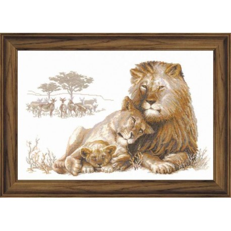 Lion's Paradise - Cross Stitch Kit from RIOLIS Ref. no.:100/013