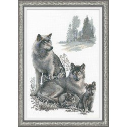 Wolves - Cross Stitch Kit from RIOLIS Ref. no.:100/021