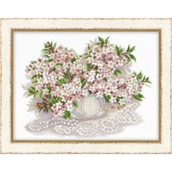 "Cross Stitch Kit ""Cherry Blossom"" - RIOLIS Premium 100/034 (40x30 cm)"