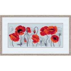 Scarlet Poppies - Cross Stitch Kit from RIOLIS Ref. no.:100/037