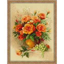 Tea Roses - Cross Stitch Kit from RIOLIS Ref. no.:100/049