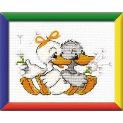 Grandma's merry geese - Cross Stitch Kit from RIOLIS Ref. no.:HB021