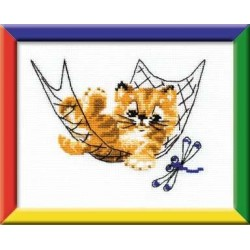 Quiet Time - Cross Stitch Kit from RIOLIS Ref. no.:HB058