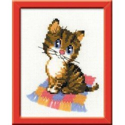 Kitten - Cross Stitch Kit from RIOLIS Ref. no.:HB068