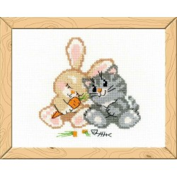 Peace, love, and carrot - Cross Stitch Kit from RIOLIS Ref. no.:HB103