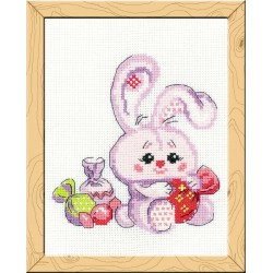 Bunny with a candy - Cross Stitch Kit from RIOLIS Ref. no.:HB119