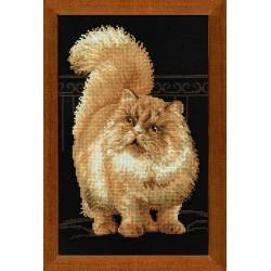 """RIOLIS – Create It Yourself – Siuvinėjimo rinkinys """"Persiška katė"""" 1152 (26x38 cm)"""
