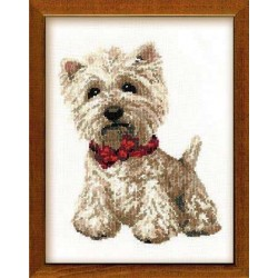 West Highland White - Cross Stitch Kit from RIOLIS Ref. no.:945