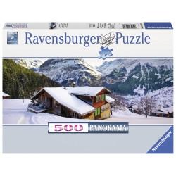 """Ravensburger panoraminė dėlionė """"Puzle 500 Chalet in the Alps"""""""