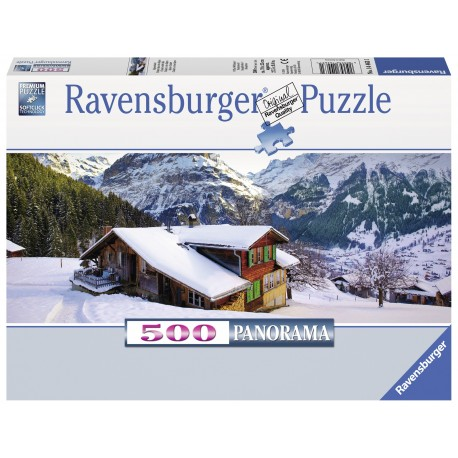 "Ravensburger panoraminė dėlionė ""Puzle 500 Chalet in the Alps"""
