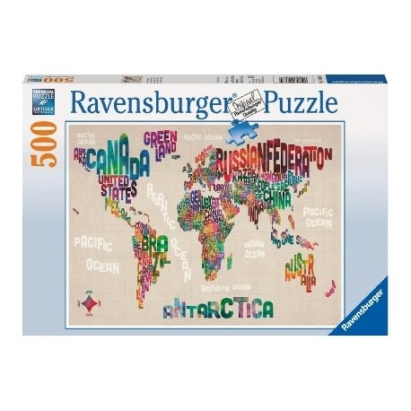 "Ravensburger dėlionė ""Puzzle 500 World in Words"""